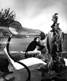 Salvador Dali and Gala by Charles Hewitt, Cadaques, 1955