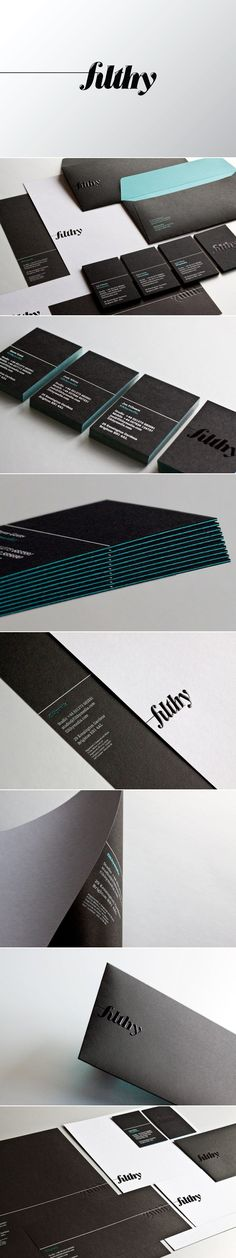 Filthy Media corporate identity - created via http://pinthemall.net