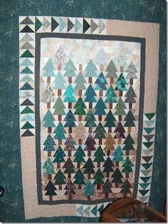 This quilt is called Piney Woods