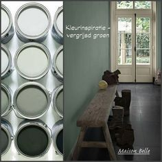 Color inspiration: looking for a beautiful color for your home? This week's color: greyish green. This is Energizing Moss 7085 from Flexa Couleur Locale. – stylish, quiet and you choose something very special – Image source: Flexa and Moodwell Decor, House Styles, Interior Inspiration, Home And Living, Interior, House Colors, Home Decor, Colorful Interiors, Home Deco