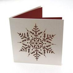 laser cut snowflake christmas card by the hummingbird card company