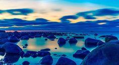 #peaceful #rocks #magical #unreal #wonderlust #blue #beach #sunrise