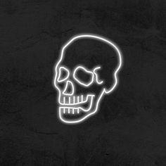 Skull - LED Neon Sign Hypebeast Brands, Skull Icon, Light App, App Logo, Black And White Aesthetic, Led Neon Signs, Iphone, App Icon, Homescreen