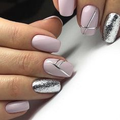 28 Excellent Winter Fancy Nails Trends Ideas To Wear This Year : Page 21 of 29 : Creative Vision Design - fancy nails - Classy Nails, Fancy Nails, Stylish Nails, Simple Nails, Trendy Nails, Pink Nails, Cute Nails, My Nails, Nagellack Design