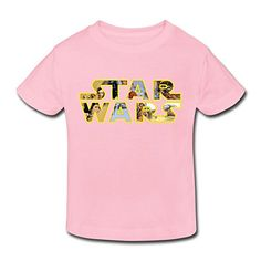 Age 2-6 Kids Toddler Star Wars Logo 2 Toddler Little Boys And Girls T Shirt LightPink @ niftywarehouse.com #NiftyWarehouse #Geek #Products #StarWars #Movies #Film