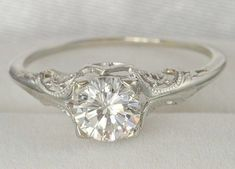 If I did not already have the perfect ring this would be it. What a lovely vintage engagement ring.