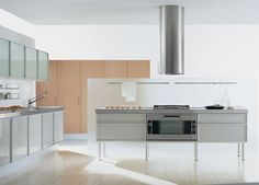 contemporary aluminium kitchen (with island) QUADRA EFFETI INDUSTRIE
