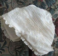 Finest White-Work Baby Christening Bonnet