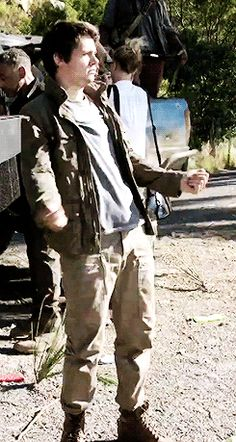 Dylan O'Brien - The Death Cure bts gif