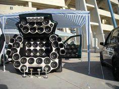 crazy sound system car