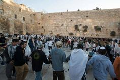 Dancing with joy next to the western wall. I love Israel.