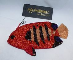 INGE Christopher tropical fish clutch purse all hand beaded Ebay Web, Tropical Fish, Clutch Purse, Baby Items, Women's Accessories, Sunshine, Purses, Christmas Ornaments, Halloween