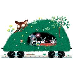 train puzzle illustrated by marc boutavant. found on catchoo cutie pie blog.