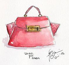 Zac Posen Handbag   Elaine Biss
