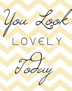 You Look Lovely Today Framed Giclee Print