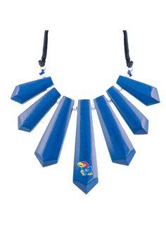 Kansas Jayhawks Pendant Statement Womens Necklace