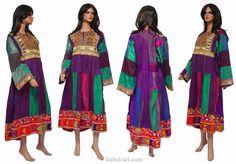 antik Orient Nomaden kuchi frauen Hochzeit Tracht von KabulGallery