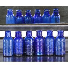six matching original 19th century antique american medical chicago privy dug richly colored cobalt blue squat neck bromo-seltzer glass bottles with embossed lettering- cumberland glass company, bridgeton, nj. - See more at: http://www.urbanremainschicago.com/products/19th-century-american-bottles/six-matching-original-19th-century-antique-american-medical-chicago-privy-dug-richly-colored-cobalt-blue-squat-neck-bromo-seltzer-glass-bottles-with-embossed-lettering.html#sthash.S5E73wQW.dpuf
