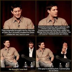 Could not picture Jensen as Sam... Don't worry Jensen you're fine!