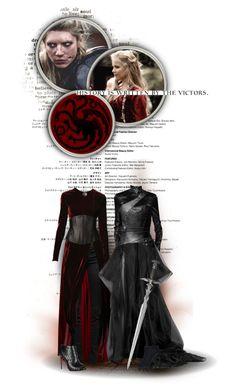 """Visenya and Rhaenys Targaryen"" by kate7695 ❤ liked on Polyvore featuring mode…"