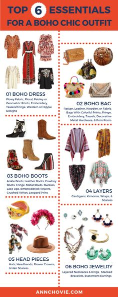 Rocking The Boho Chic Look For Fall One of my favorite styles is free-spirited, bohemian fashion. I broke down the elements to rock the boho chic. Take a look at the 6 most important parts to match your boho look! Hippie Style, Look Hippie Chic, Looks Hippie, Gypsy Style, Bohemian Mode, Boho Gypsy, Bohemian Style, Hippie Boho, Bohemian Lifestyle