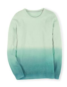 Dip Dye Cashmere Sweater in Mineral/Freshwater