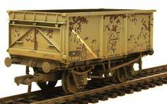Bachmann 37-253B  16 Ton Steel Mineral Wagon BR Grey Weathered