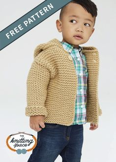 Knit this adorable hoodie jacket in time for the fall season. Make several in di… Knit this adorable hoodie jacket Free Childrens Knitting Patterns, Baby Cardigan Knitting Pattern Free, Free Baby Patterns, Hoodie Pattern, Sweater Knitting Patterns, Knitting For Kids, Free Knitting, Baby Knitting, Hat Patterns