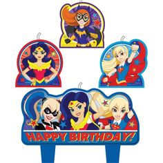 Super Hero Girls Party Birthday Candles
