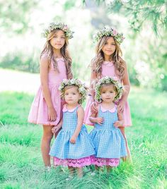 The Clements Twins with Taytum and Oakley Fisher Fashion Kids, Little Fashion, Cute Twins, Cute Babies, Cute Little Girls, Sweet Girls, Tatum And Oakley, Cole And Savannah, Twin Baby Girls
