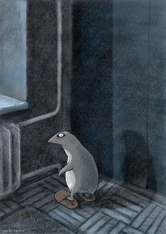 С месяц назад. До меня тоже дошло сообщение следующего содержания:    «Живущий в квартире пингвин очень всем мешал спать по ночам, шлепая по  комнатам. Специально для него в разных углах прибивали к полу пару домашних  тапочек, он в них ночью попадался и уныло стоял так до утра…»