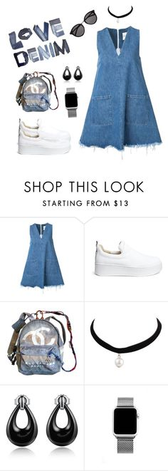 """""""#denim#love"""" by perianuramona on Polyvore featuring Sandy Liang, Windsor Smith, Chanel and Yves Saint Laurent"""