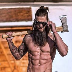 Woodsman beard styles for men
