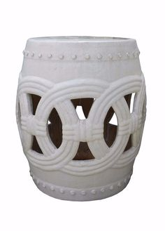 Chinese White Coin Pattern Round Clay Ceramic Garden Stool cs1641S  sc 1 st  Pinterest : cloud garden stool - islam-shia.org