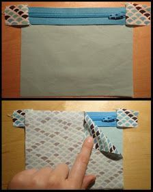 Great tutorial showing how to sew around those frustrating zipper tabs so they actually turn out! Este es él tutorial que uso para cremalleras de neceserBag Zippered Clutch Tutorial - PURSES, BAGS, WALLETS - Over this winter break I decided I wanted Sewing Hacks, Sewing Tutorials, Sewing Crafts, Sewing Tips, Bag Tutorials, Sewing Ideas, Clutch Tutorial, Zipper Tutorial, Tutorial Sewing