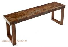 Industrial Console Table by Woodland Creek Furniture in Custom Sizes & Finishes.