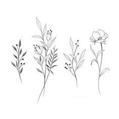 54 Ideas Design Tattoo Ideas Draw Sketch Inspiration - Your dream wedding and venue organization, Your dream wedding and venue organization Mini Tattoos, Cute Tattoos, Body Art Tattoos, Small Tattoos, Small Flower Tattoos, Poppy Tattoo Small, Tatoos, Delicate Flower Tattoo, Birth Flower Tattoos
