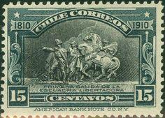 Chile 1910 engraved by Dawson & Seymour