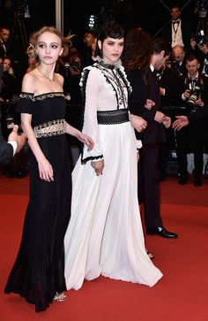Lily-Rose Depp and Soko during the 69th annual Cannes Film Festival at the Palais des Festivals, France