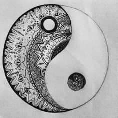 Tattoo design- yinyan. Want this so bad⚫️⚪️