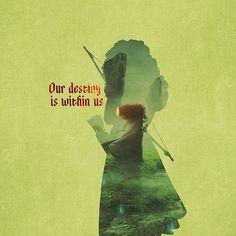 """Our Destiny Is Within Us"" - Meridia - Brave - Disney Pixar Inspired"