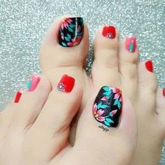 It's toe time ladies and gentlemen! We have found 44 images of some of the Best Toe Nail Art for Pretty Toe Nails, Cute Toe Nails, Cute Acrylic Nails, Pretty Toes, Toe Nail Art, Love Nails, Fall Nail Art Designs, Toe Nail Designs, Acrylic Nail Designs