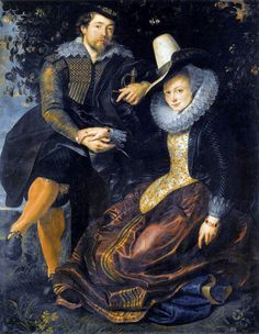 Example of the longer and looser coats. Able to see the breeches the men wear instead of hose.   Painting by Peter Paul Rubens - 1609-1610    http://fashionhistory.zeesonlinespace.net/baroque.html#