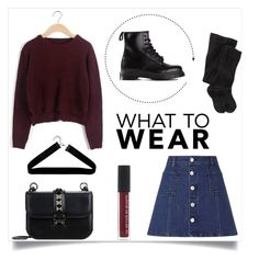 """What to wear"" by lostandfound92 ❤ liked on Polyvore featuring Dr. Martens, Lipsy, Valentino, Boohoo and Smartwool"