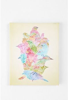 Birdstack by Cole Gerst Wall Art - 15x19