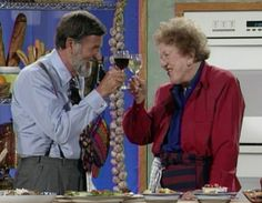 The Galloping Gourmet (Graham Kerr), here with the great Julia Child. See him live on September 15th at AmpleHarvest Seattle Festival