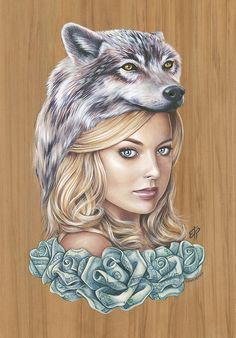 """""""Wolf of Wall Street"""" by Erika PearceAcrylic Paint on Rimu..."""