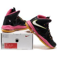 http://www.asneakers4u.com/  Nike Zoom Lebron 10 X  Shoes Black/Pink/Yellow Sale Price: $78.90