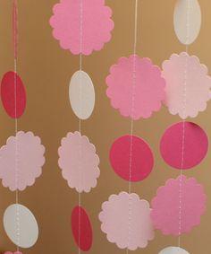 Shades of Pink Circle & Scallop Garland 11Foot by ZinzeeParade, $10.50