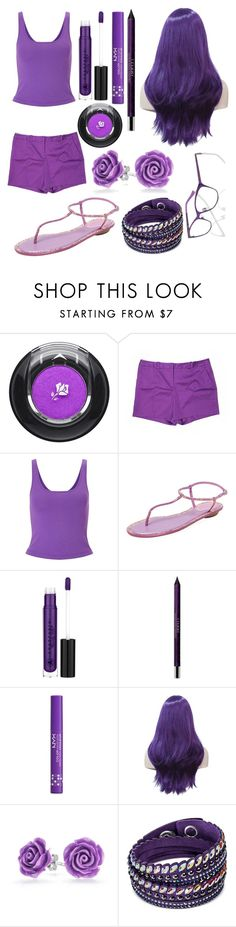 """Purple"" by rainbowsuperunicornchicken ❤ liked on Polyvore featuring Lancôme, Worthington, Miss Selfridge, René Caovilla, Anastasia Beverly Hills, By Terry, NYX, Bling Jewelry, Swarovski and Pepe Jeans London"